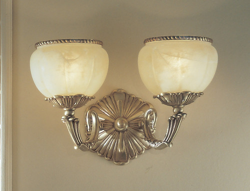 Classic Lighting 69502 SBB Alexandria II Cast Brass/Glass Wall Sconce in Victorian Bronze