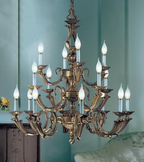 Classic Lighting 69416 VBZ Alexandria III Cast Brass Chandelier in Victorian Bronze