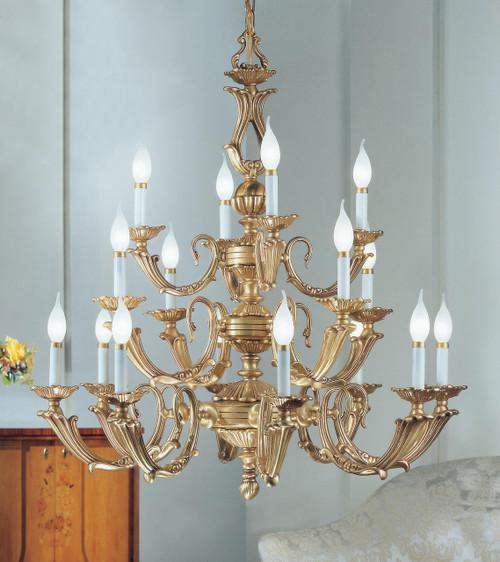 Classic Lighting 69416 SBB Alexandria III Cast Brass Chandelier in Satin Bronze/Brown Patina