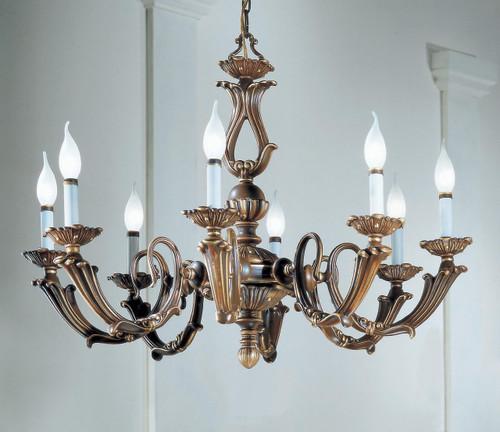 Classic Lighting 69408 VBZ Alexandria III Cast Brass Chandelier in Victorian Bronze