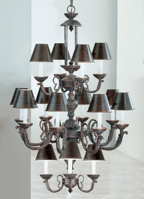 Classic Lighting 69119 EB Innsbrook Traditional Cast Chandelier in English Bronze