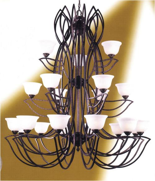 Classic Lighting 68921 EB Alpha Glass/Iron Chandelier in English Bronze