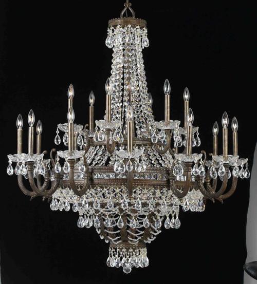 Classic Lighting 68919 EBG CP Contessa Crystal Chandelier in English Bronze/Gold
