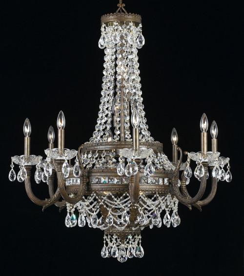 Classic Lighting 68918 EBG CP Contessa Crystal Chandelier in English Bronze/Gold