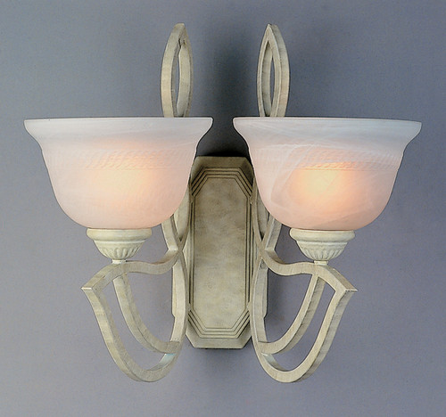 Classic Lighting 68902 SW Alpha Glass/Iron Wall Sconce in Sand White