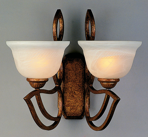 Classic Lighting 68902 GB Alpha Glass/Iron Wall Sconce in Golden Bronze