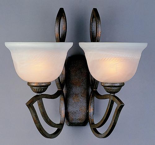 Classic Lighting 68902 EB Alpha Glass/Iron Wall Sconce in English Bronze
