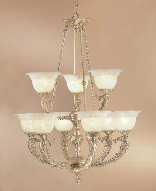 Classic Lighting 68706 MS C Victorian II Crystal Chandelier in Millennium Silver
