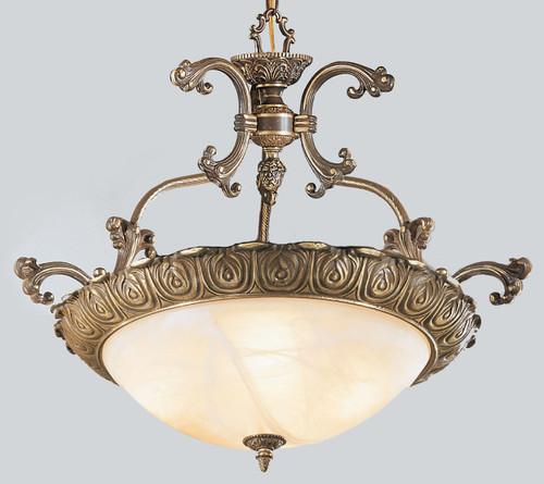 Classic Lighting 68523 RB Montego Bay Cast Brass/Glass Pendant in Roman Bronze