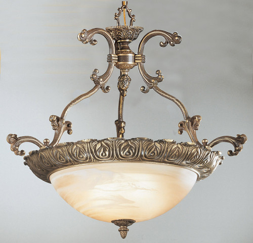 Classic Lighting 68522 RB Montego Bay Cast Brass/Glass Pendant in Roman Bronze
