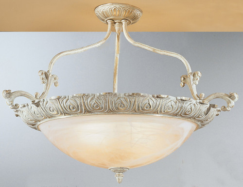 Classic Lighting 68513 SG Montego Bay Cast Brass/Glass Flushmount in Sorrento Gold