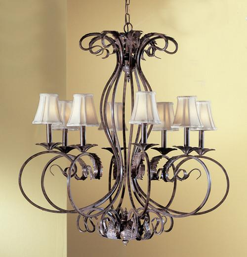 Classic Lighting 68318 EB S Manilla II Crystal Chandelier in English Bronze