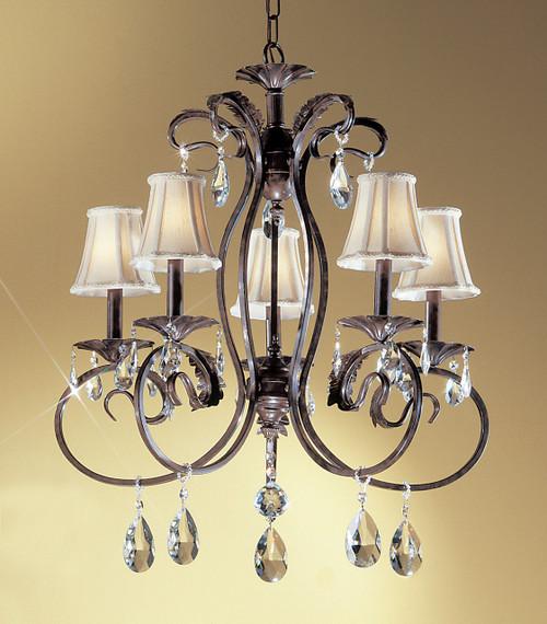 Classic Lighting 68315 EB SC Manilla II Crystal Chandelier in English Bronze