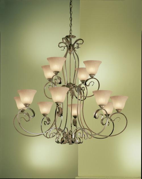 Classic Lighting 68309 EB SSG Manilla Wrought Iron Chandelier in English Bronze