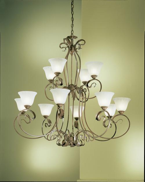 Classic Lighting 68309 EB Manilla Wrought Iron Chandelier in English Bronze