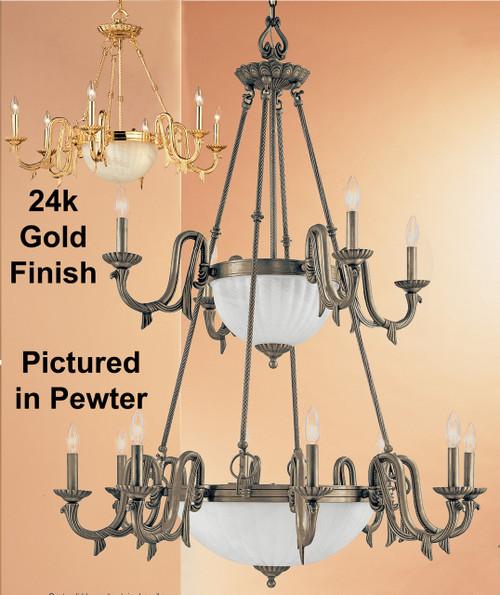 Classic Lighting 68009 G St. Moritz Cast Glass Chandelier in Gold