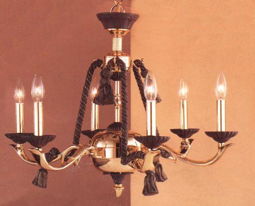 Classic Lighting 67806 BZ/G Orleans Gold Chandelier in Bronze