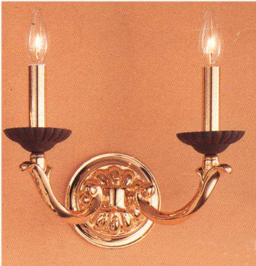 Classic Lighting 67802 BZ/G Orleans Gold Wall Sconce in Bronze