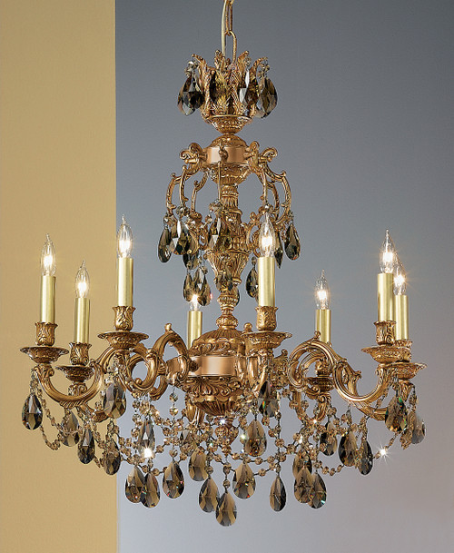 Classic Lighting 57388 AGB CBK Chateau Imperial Crystal Chandelier in Aged Bronze (Imported from Spain)