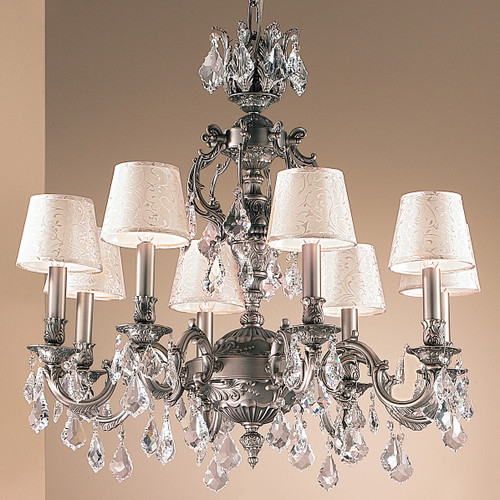 Classic Lighting 57378 FG CBK Chateau Crystal Chandelier in French Gold (Imported from Spain)