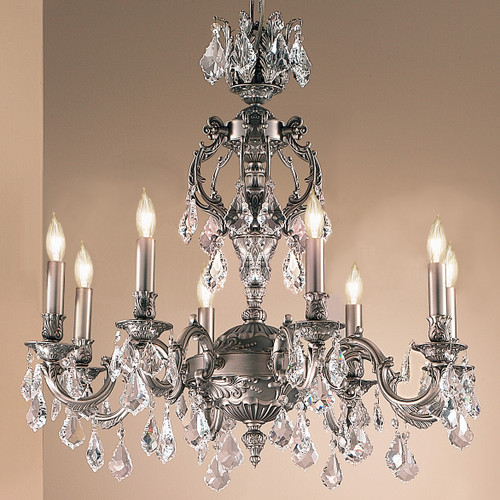 Classic Lighting 57378 AGB CBK Chateau Crystal Chandelier in Aged Bronze (Imported from Spain)