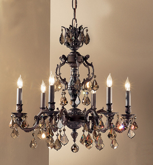 Classic Lighting 57376 AGB SGT Chateau Crystal Chandelier in Aged Bronze (Imported from Spain)