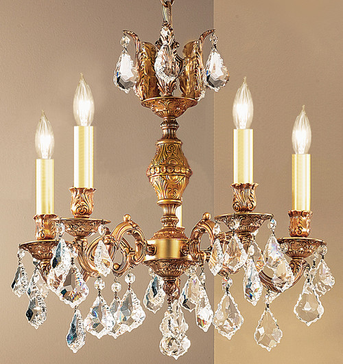 Classic Lighting 57375 AGB CBK Chateau Crystal Chandelier in Aged Bronze (Imported from Spain)