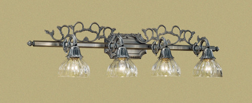 Classic Lighting 57368 AGP Majestic Cast Brass/Lead Crystal Vanity Light in Aged Pewter (Imported from Spain)
