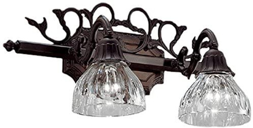 Classic Lighting 57366 AGB Majestic Cast Brass/Lead Crystal Vanity Light in Aged Bronze