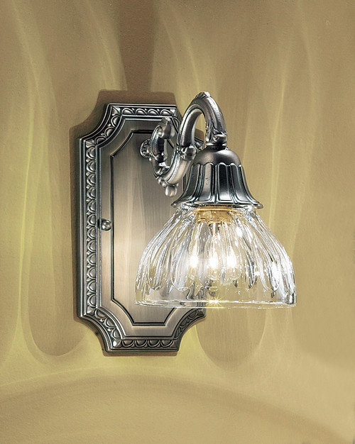 Classic Lighting 57365 AGB Majestic Cast Brass/Lead Crystal Wall Sconce in Aged Bronze (Imported from Spain)