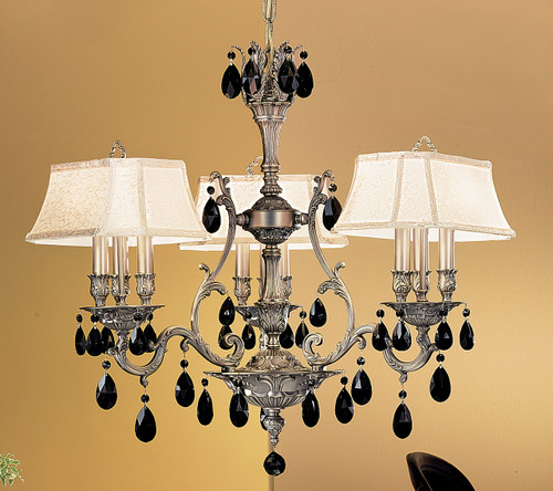 Classic Lighting 57364 AGB CBK W Majestic Crystal Chandelier in Aged Bronze (Imported from Spain)