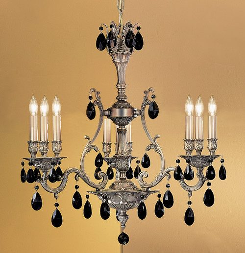 Classic Lighting 57364 AGB CBK Majestic Crystal Chandelier in Aged Bronze (Imported from Spain)