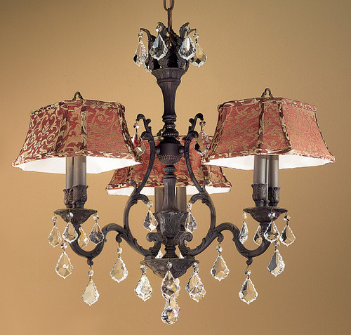 Classic Lighting 57363 AGB SC Majestic Crystal Chandelier in Aged Bronze (Imported from Spain)
