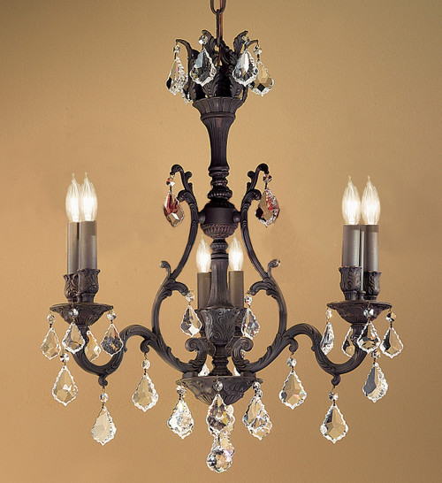 Classic Lighting 57363 AGB CBK Majestic Crystal Chandelier in Aged Bronze (Imported from Spain)