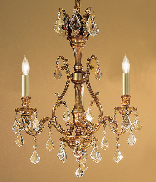 Classic Lighting 57362 AGB CBK Majestic Crystal Chandelier in Aged Bronze (Imported from Spain)