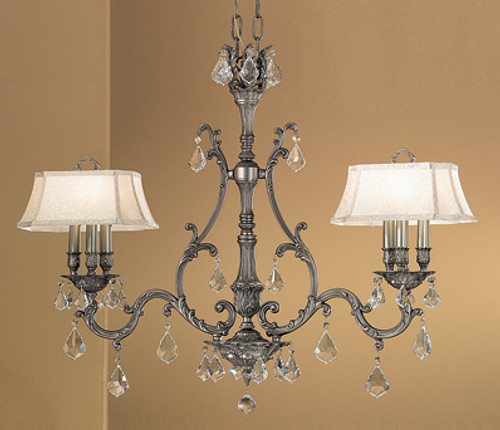 Classic Lighting 57361 AGP SC Majestic Crystal Island Light in Aged Pewter (Imported from Spain)
