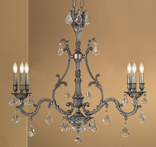 Classic Lighting 57361 AGP CBK Majestic Crystal Island Light in Aged Pewter (Imported from Spain)