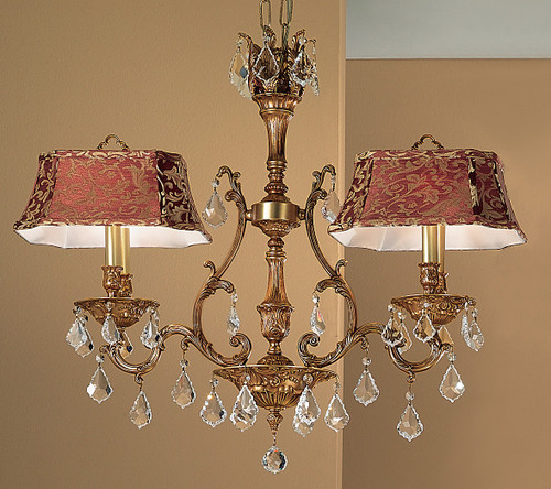 Classic Lighting 57360 FG SC Majestic Crystal Island Light in French Gold (Imported from Spain)