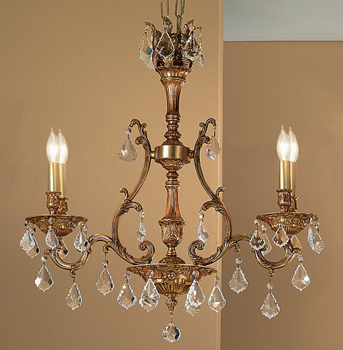 Classic Lighting 57360 FG CP Majestic Crystal Island Light in French Gold (Imported from Spain)