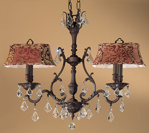 Classic Lighting 57360 AGP CBK Majestic Crystal Island Light in Aged Pewter (Imported from Spain)