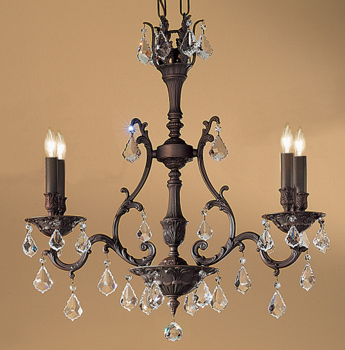 Classic Lighting 57360 AGB CBK Majestic Crystal Island Light in Aged Bronze (Imported from Spain)