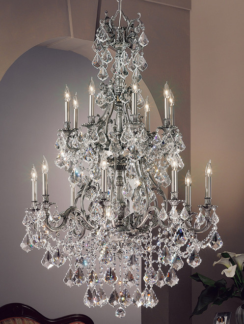 Classic Lighting 57357 AGP CBK Majestic Imperial Crystal Chandelier in Aged Pewter (Imported from Spain)