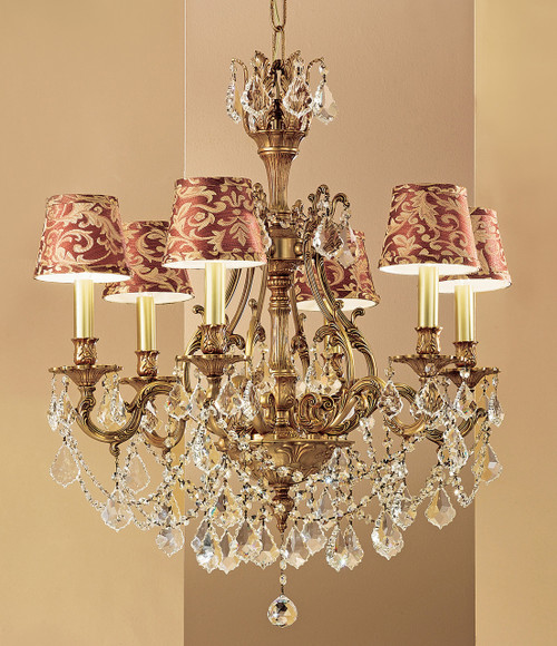 Classic Lighting 57356 FG S Majestic Imperial Crystal Chandelier in French Gold (Imported from Spain)