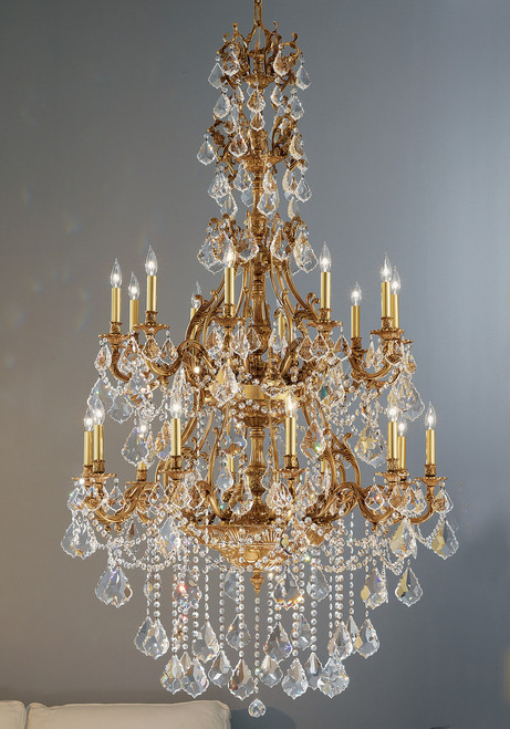 Classic Lighting 57350 AGB CGT Majestic Imperial Crystal Chandelier in Aged Bronze (Imported from Spain)