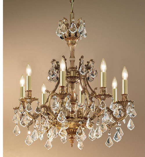 Classic Lighting 57348 AGB CBK Majestic Crystal Chandelier in Aged Bronze (Imported from Spain)