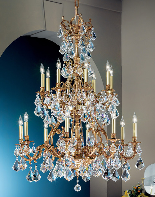 Classic Lighting 57347 FG CBK Majestic Crystal Chandelier in French Gold (Imported from Spain)