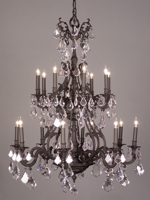 Classic Lighting 57347 AGP SC Majestic Crystal Chandelier in Aged Pewter (Imported from Spain)