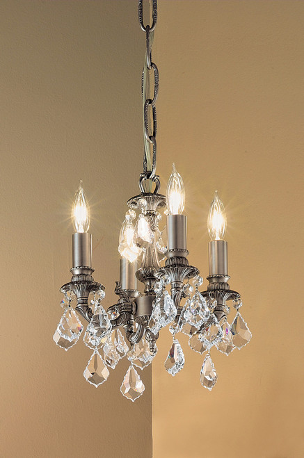 Classic Lighting 57344 AGB CBK Majestic Crystal Mini Chandelier in Aged Bronze (Imported from Spain)