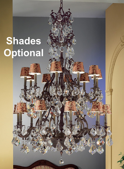 Classic Lighting 57340 AGB CBK Majestic Crystal Chandelier in Aged Bronze (Imported from Spain)