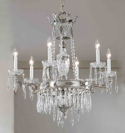 Classic Lighting 57316 MS I Duchess Crystal Chandelier in Millennium Silver (Imported from Spain)
